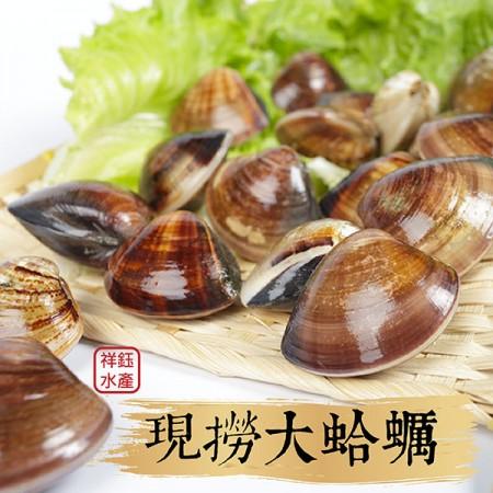 【祥鈺水產】現撈大蛤蠣 時價 600g 一包 內約26顆左右
